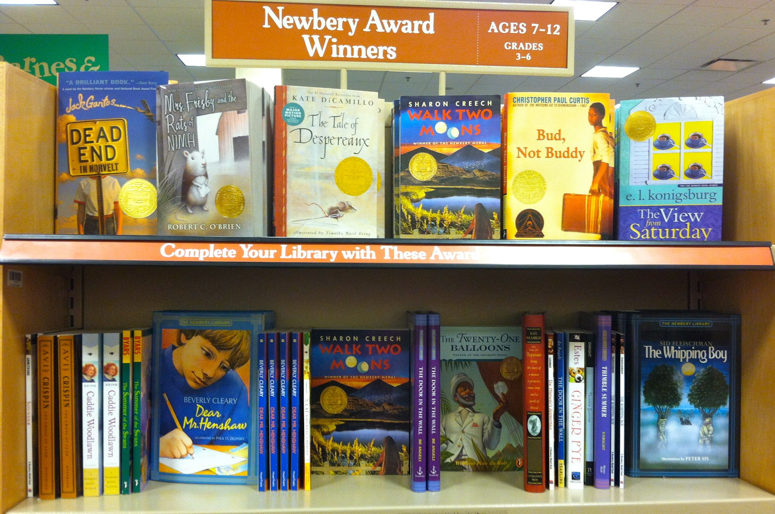 Newberry Award Winners For Ages 7 12 Year Olds