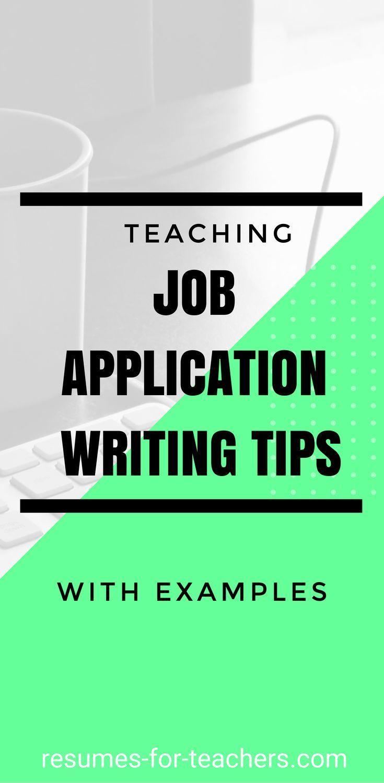 Teaching job application letter writing tips with examples teaching job application letter writing tips with examples spiritdancerdesigns Choice Image