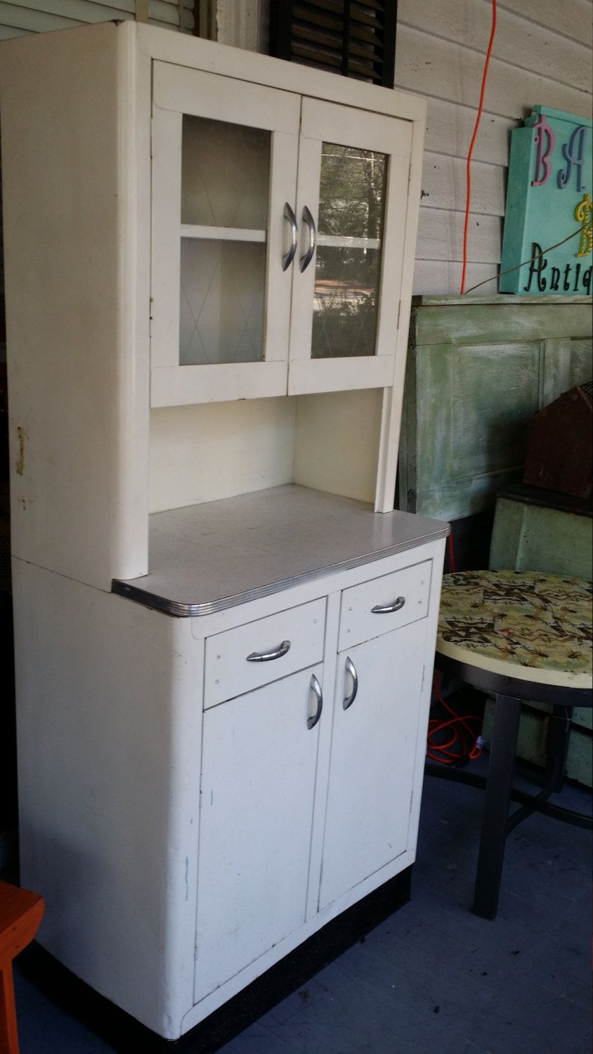 Vintage Metal Kitchen Cabinet With Glass Doors Contact For Shipping Metal Kitchen Cabinets Metal Kitchen Glass Kitchen Cabinet Doors