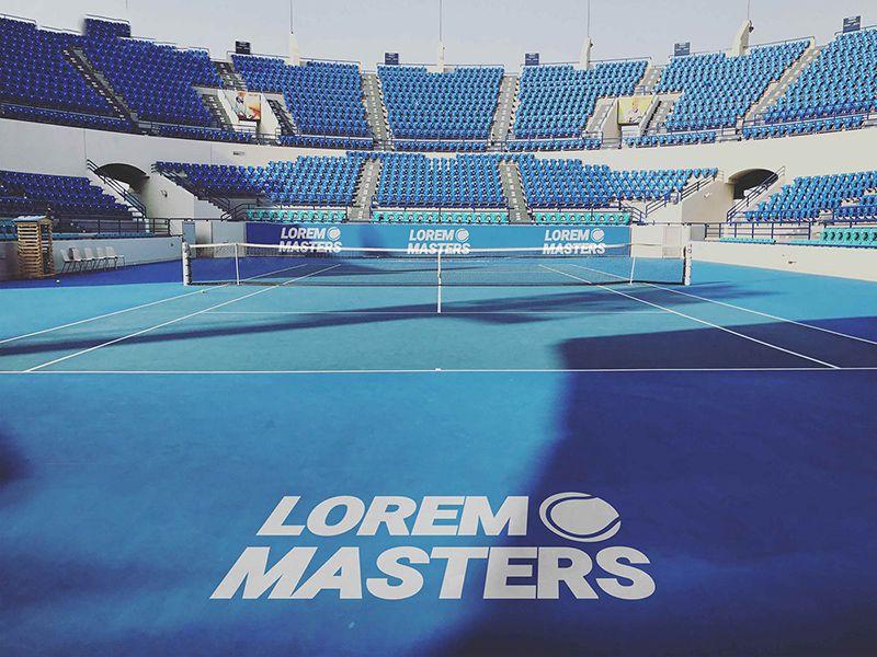 Tennis Court Brand Mockup