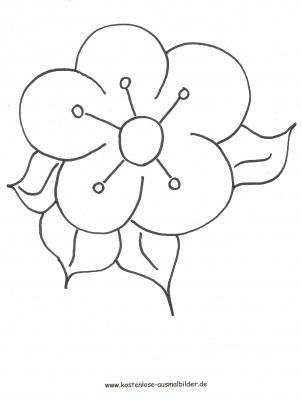 Ausmalbild Blute Floral Flowers Embroidery