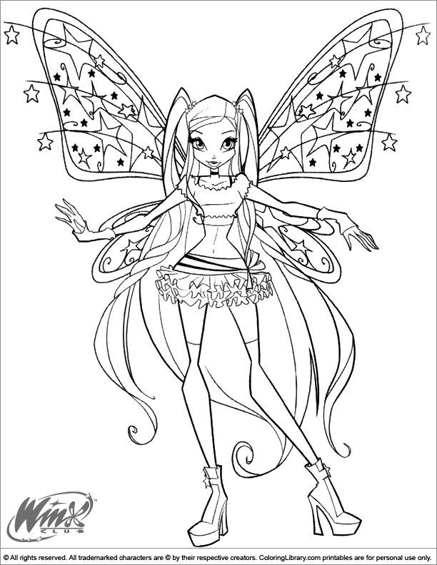 coloriage winx | folyo | Pinterest | Coloring pages, Fairy coloring ...