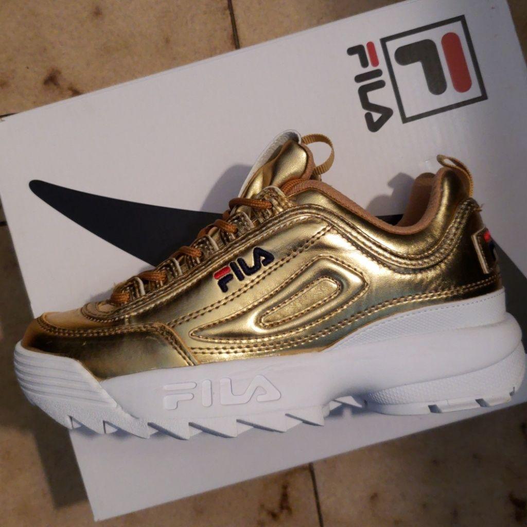 Fila Shoes Gull Fila joggeskoFarge: GullStørrelse: 6 Gull Fila joggeskoFarge: Gull Size: 6