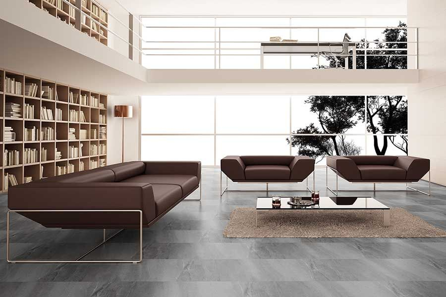 Stunning Volcanic Ash Finished Porcelain Floor Tiles Used In This Delectable Living Room Floor Tiles Design 2018