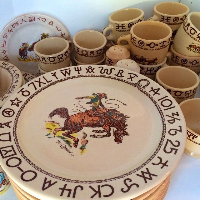 \u201c#YESSS to #vintage #Cowboy dishes !!! ... # & YESSS to #vintage #Cowboy dishes !!! ... #VintageWesternDecor ...