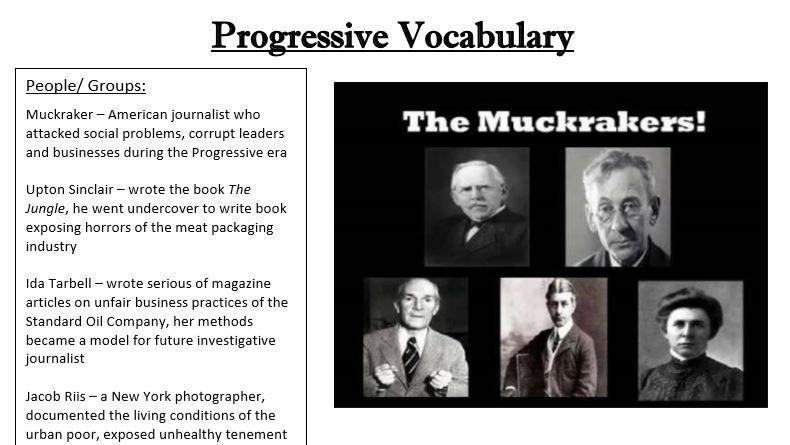 Progressive Era Vocabulary Quiz With Key Editable Vocabulary Quiz Vocabulary Progress