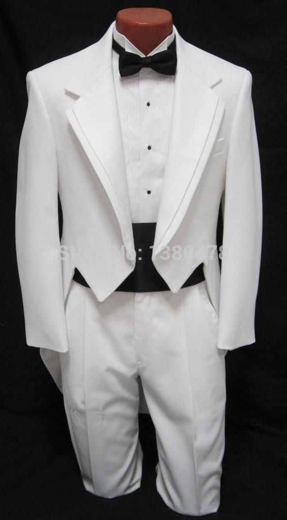 best price exquisite style 100% high quality Cheap Vestito custom uomo ragazzi smoking bianco frac ...