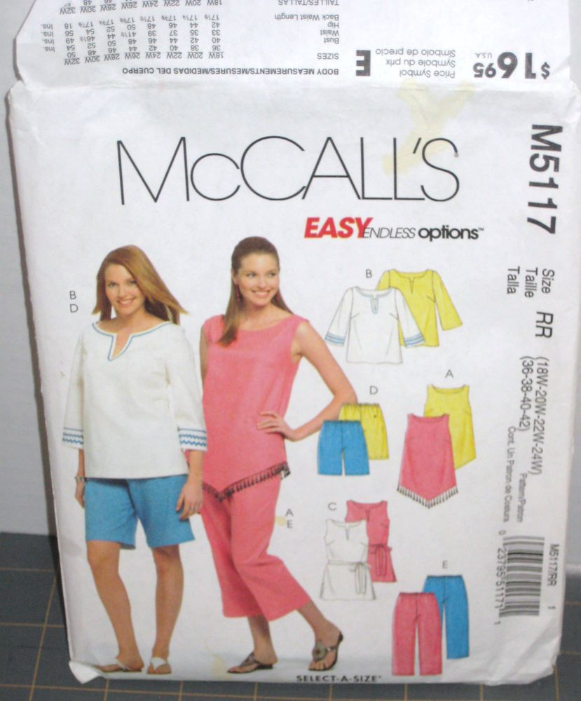 7527 Simplicity SEWING Pattern Misses Top Pants Shorts