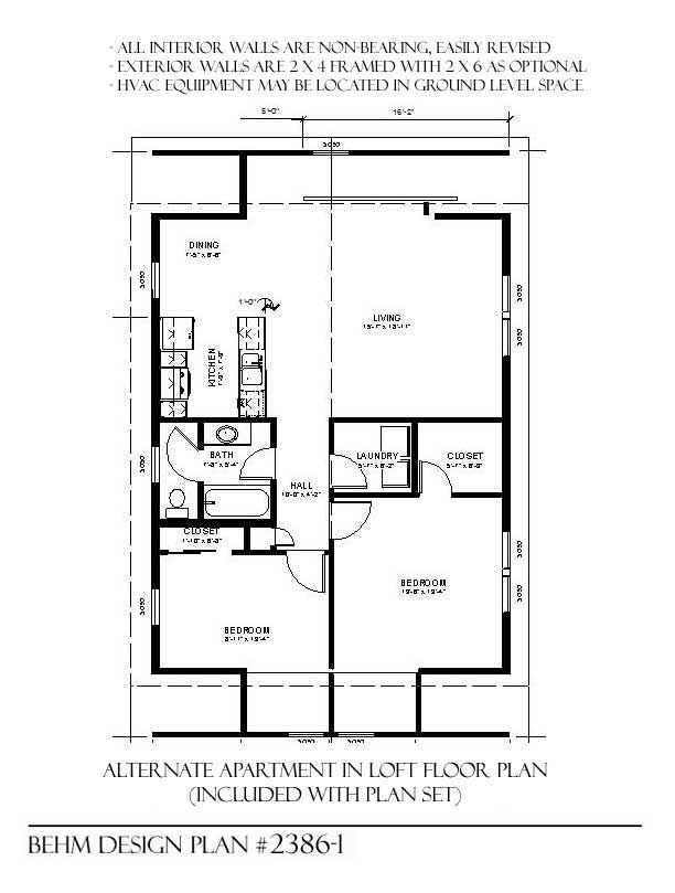 3 Car Garage Plan 2386 1 With Loft And Optional Apartment Garage Plans Garage Apartment Floor Plans Garage Apartment Plans