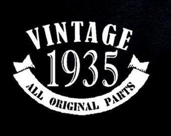 1935 Vintage 80th Birthday Gift Present T Shirt Age 80 Years Old Man Tshirt Bday Grandpa Father Grandma Husband Funny Born