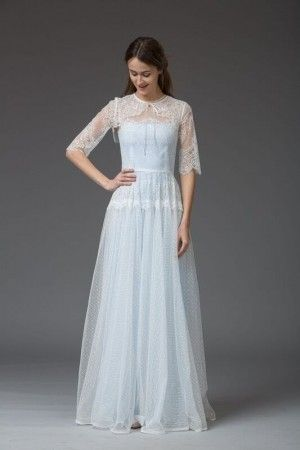 vintage-inspired-lace-wedding-dress-dresses-london-UK-Maria with ...