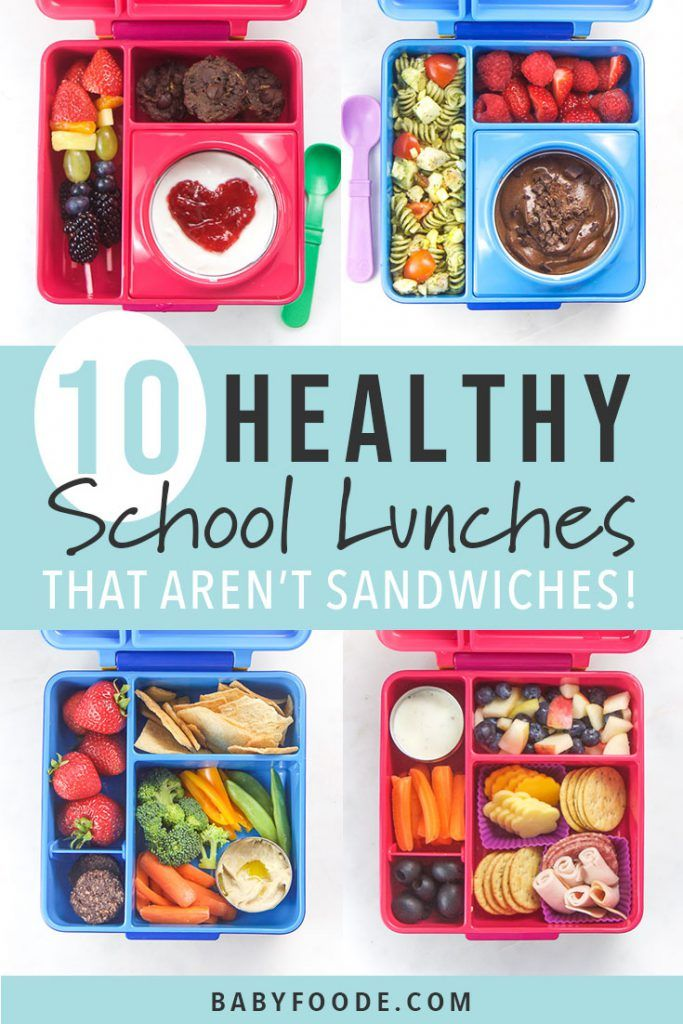 10 Easy + Healthy School Lunches for Warm Weather (no sandwiches!) images