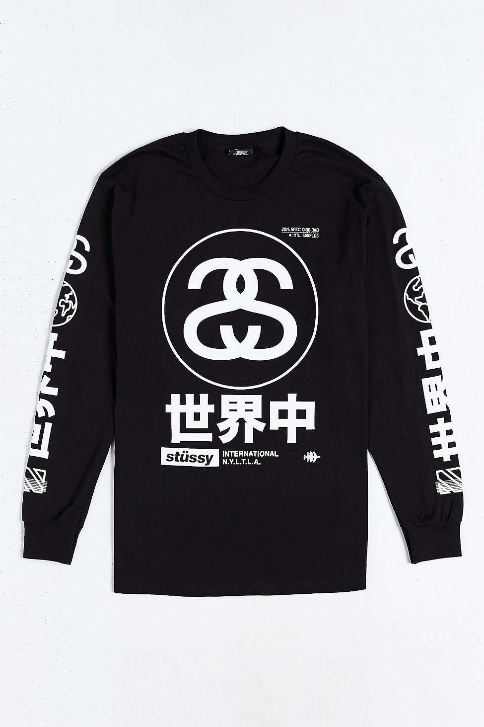 4b9ac07d8 Stussy Japan International Long-Sleeve Tee the aesthetics are so strong  with this one
