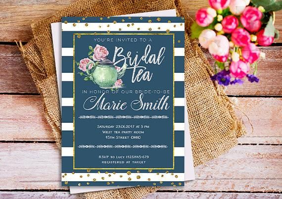 fun bridal shower ideas pinterest bridal tea in honor of the bridetobe is such catchy phrase for cute bridal shower invitation 52 awesome bridal shower ideas kennedy blue bachelorette party