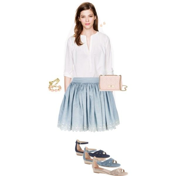 """Light pink & light blue"" by maomi on Polyvore"