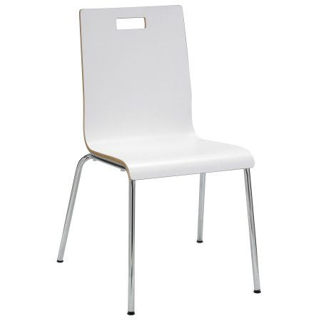 KFI Seating Jive Series Bentwood Laminate Cafe Chair, White Finish