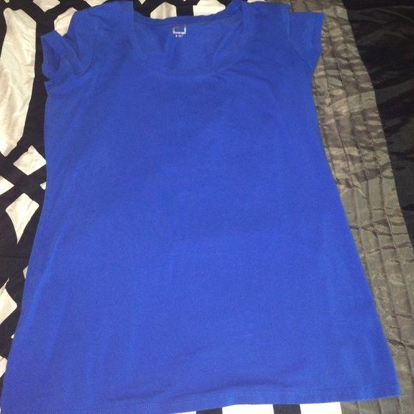 Basic scoop neck tee Blue solid scoop neck tee jcpenney Tops Tees - Short Sleeve