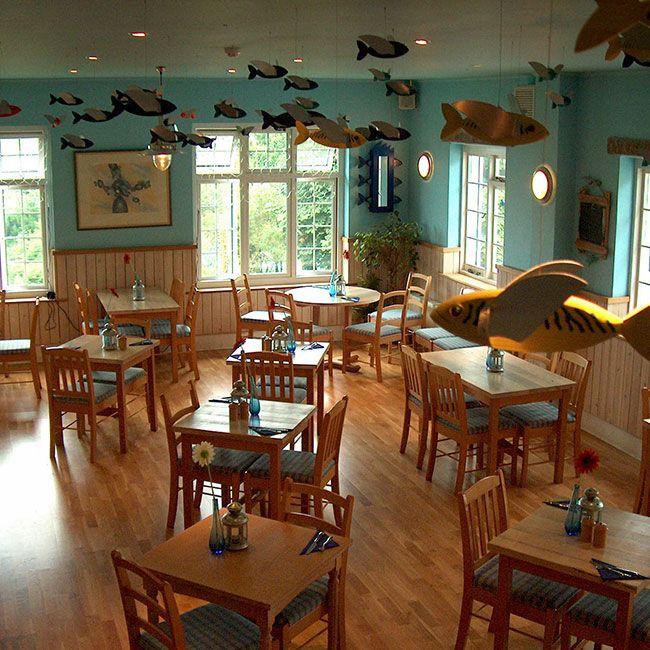 Seaside Nautical Themed Restaurant Seating Area, St