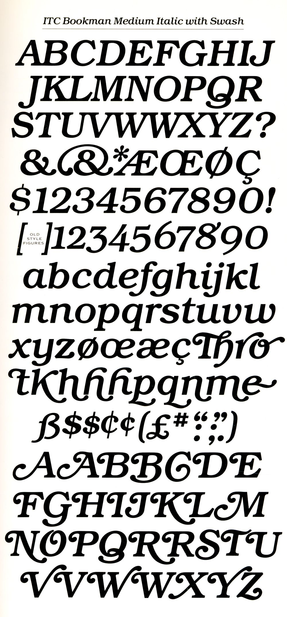 Bookman Swash Italic This Font Dominated My Very Early Childhood