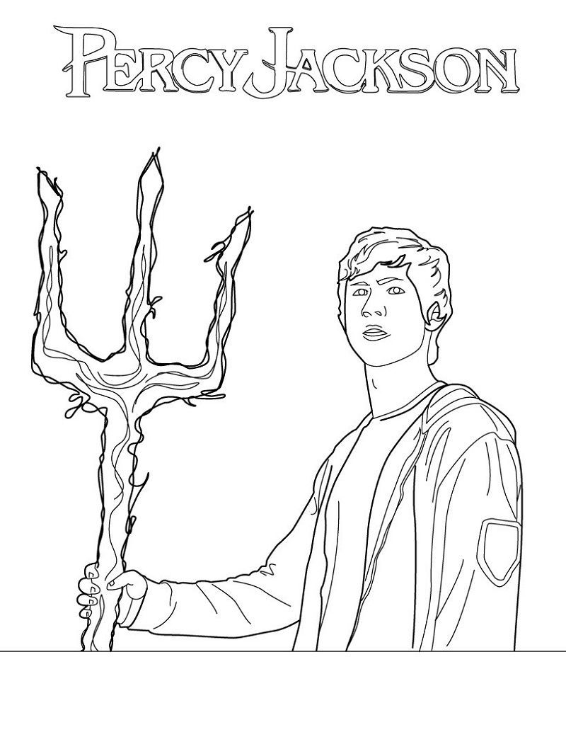 Percy Jackson Coloring Pages Free