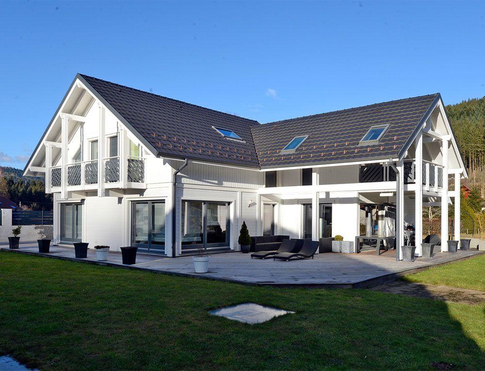 maison darchitecte bois avec charpente apparente nos maisons ossatures bois maison 2 pans