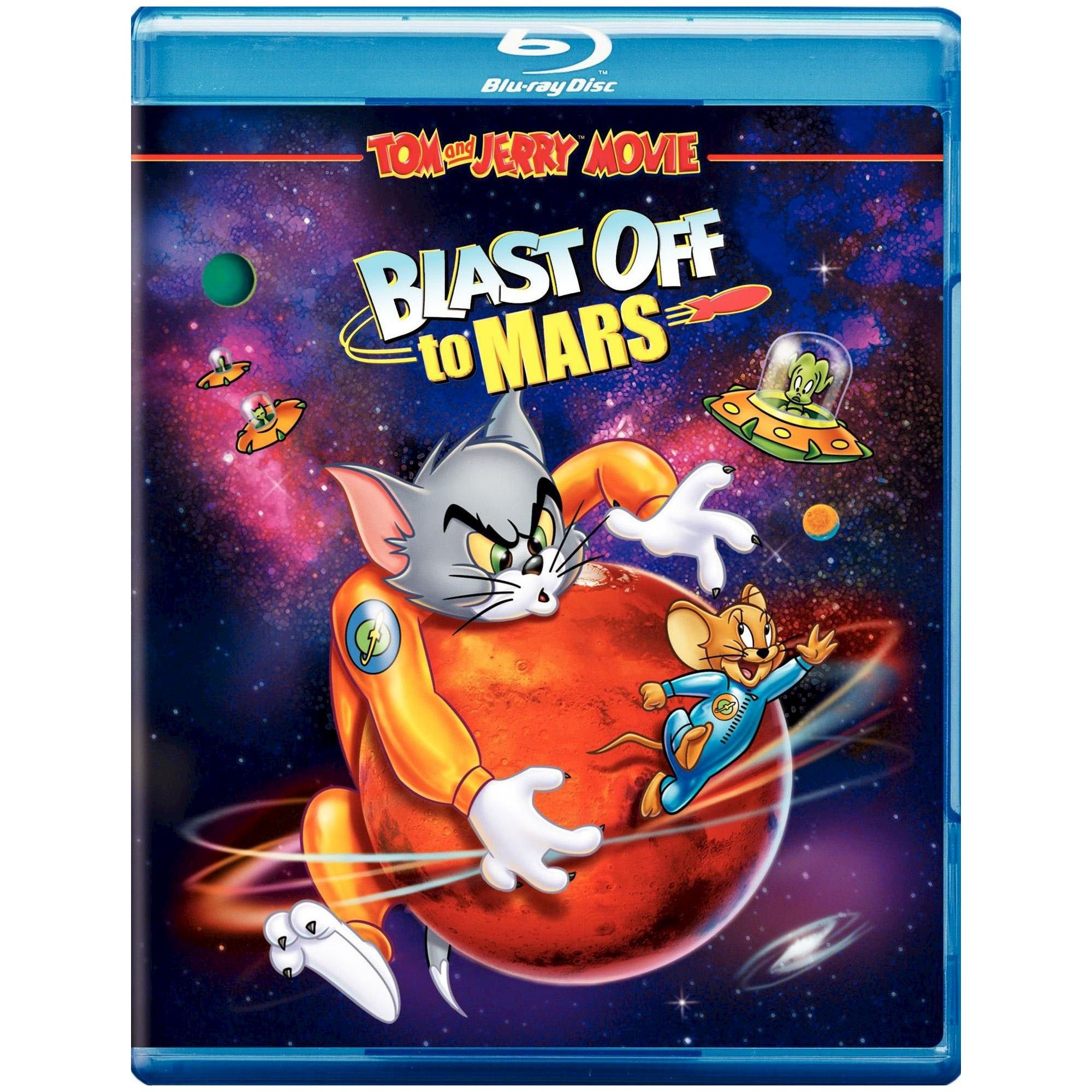 Tom Jerry Blast Off To Mars Blu Ray 2012 In 2021 Tom And Jerry Old Cartoon Movies Great Kids Movies