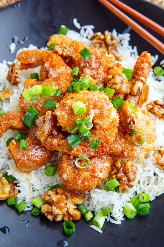 Honey Walnut Shrimp #shrimprecipes
