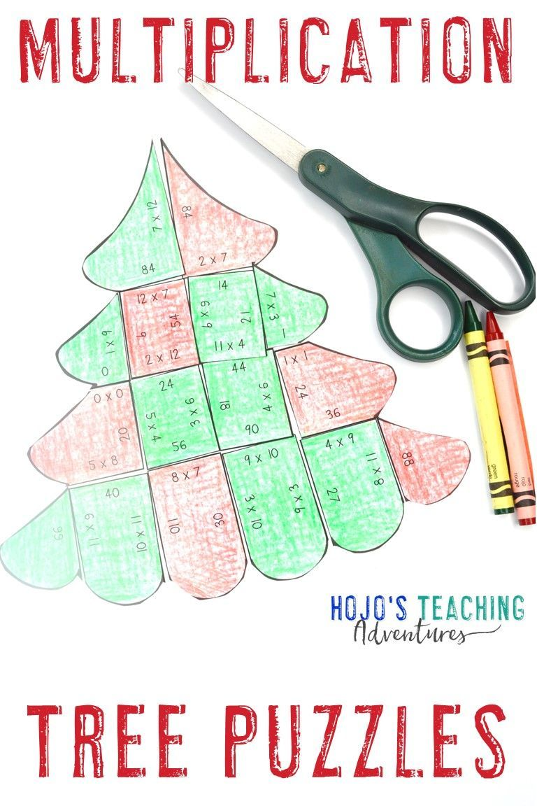 Multiplication Christmas Tree Craft Alternative December Math Activity Or Game December Math Christmas Math Holiday Math [ 1152 x 768 Pixel ]
