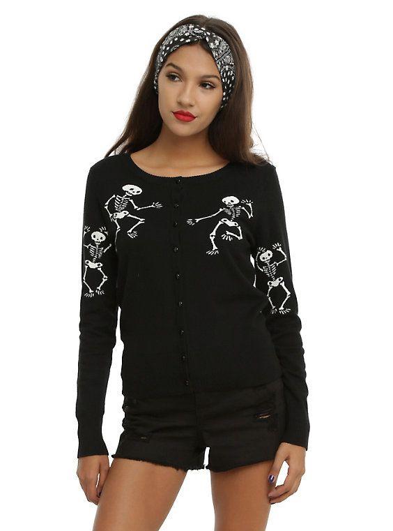 22b606b7066 Too Fast Skeleton Dance Girls Cardigan