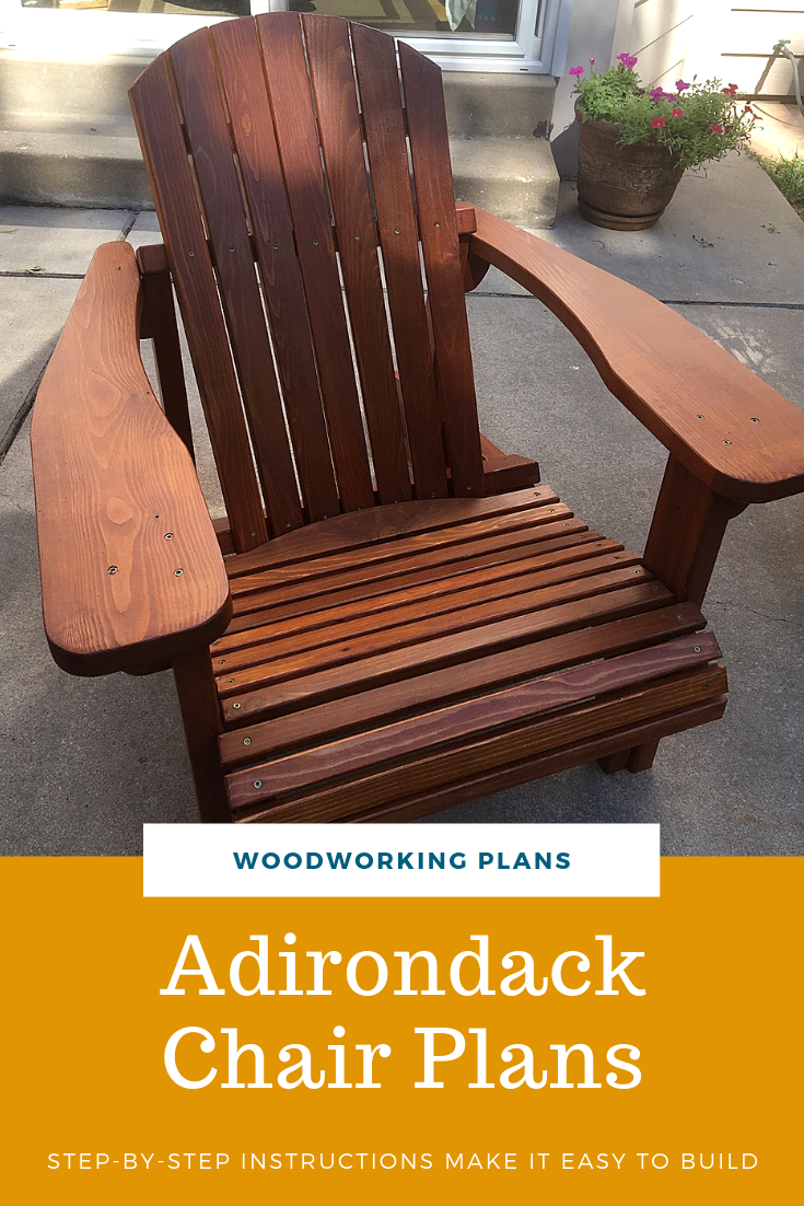 A Full Size Woodworking Pattern and Instructions to Build a Adirondack Footstool and Side Table