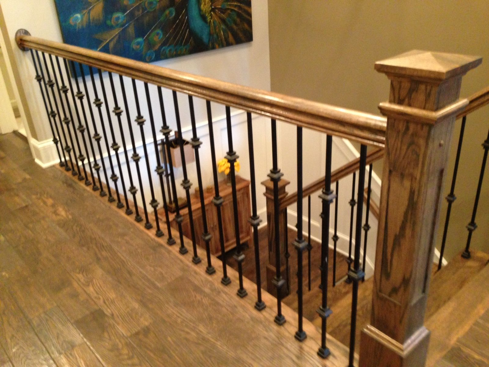 wrought iron spindles   Staircase remodel, Stairs, Stair ...
