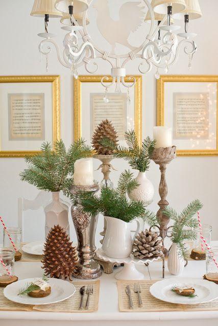 Natural Christmas Tablescape Christmas Centerpieces Diy Christmas Centerpieces Christmas Table Decorations