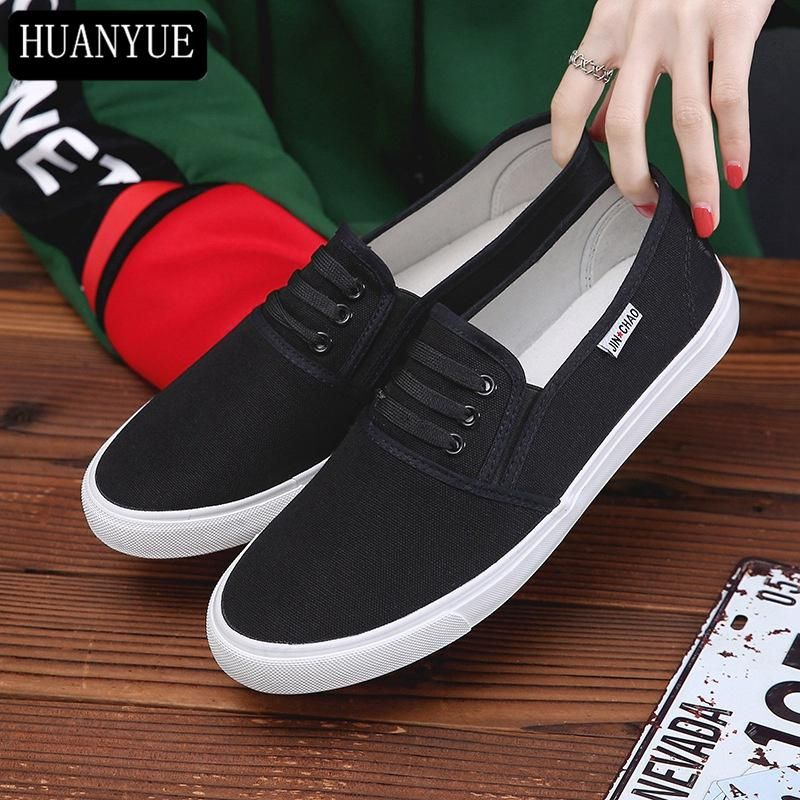 0df971cdb884 Solid White Black Canvas Shoes For Women s Casual Shoes Breathable New  Fashion 2018 Low Platform Walking Trainers Espadrilles. Yesterday s price   US  21.59 ...