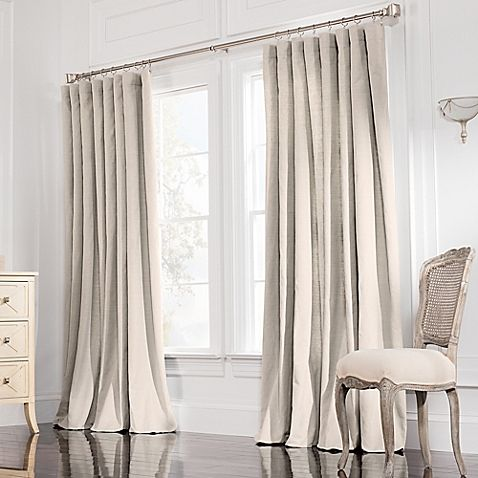Valeron Estate Cotton Linen 84 Inch Double Width Window Curtain