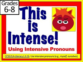 Intensive Pronouns: This is Intense! Lesson, PPT, Worksheets