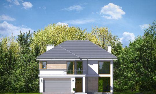 Светлый двухэтажный коттедж с большим гаражом и террасой ...