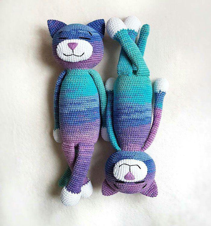 Large Ami Cat Crochet Pattern Crochet Cat Pattern Crochet
