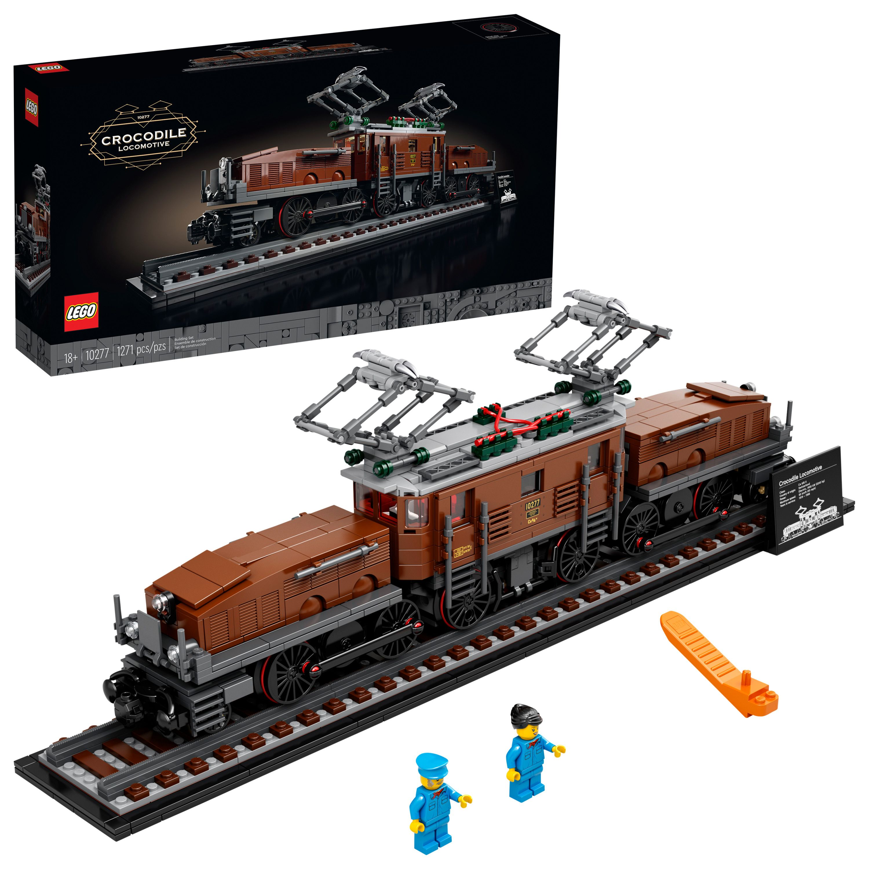 Lego Crocodile Locomotive 10277 Building Toy Relaxing Project For Adults Who Love Model Kits And Train Sets 1 271 Pieces Walmart Com In 2020 Toy Trains Set Train Sets Model Building Kits