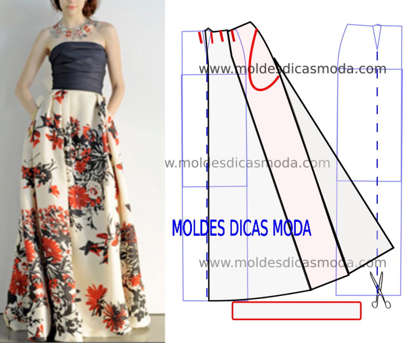 660e05f11d4 Resultado de imagen para moldes dicas moda faldas