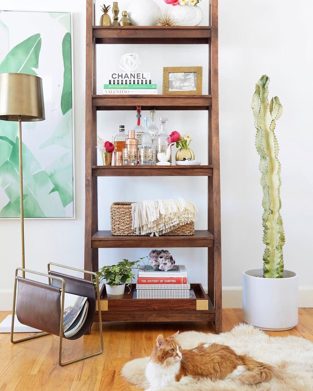 16 Sophisticated Rustic Living Room Designs You Won T Turn: Strut Bookcase Teak Galen Magazine Rack Beverly Palms