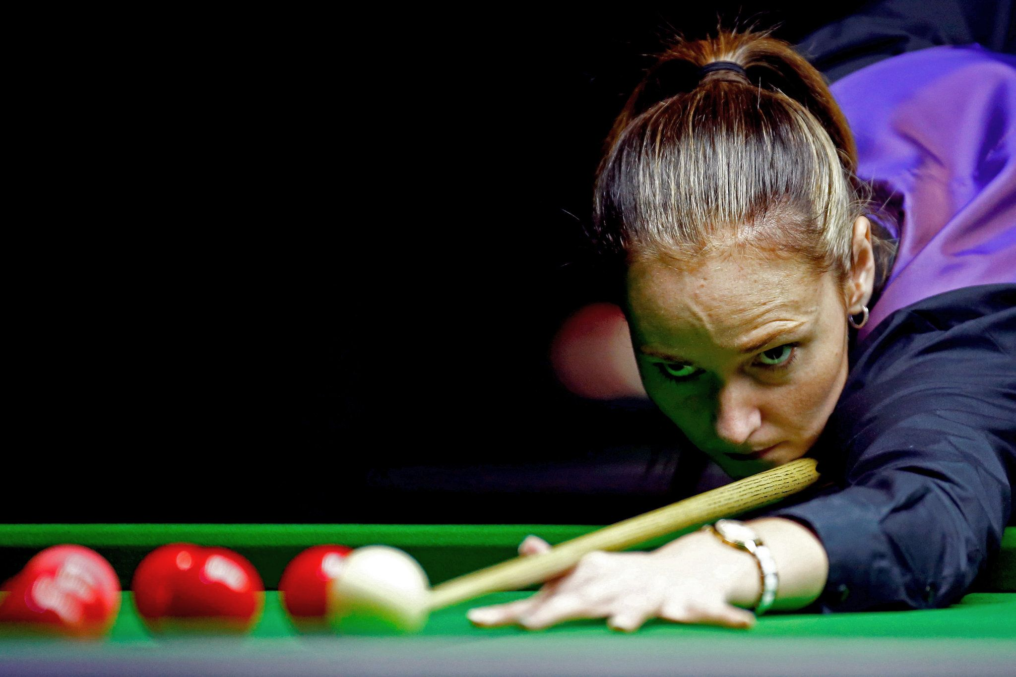 Photo Reanne Evans of England played a shot in the women's