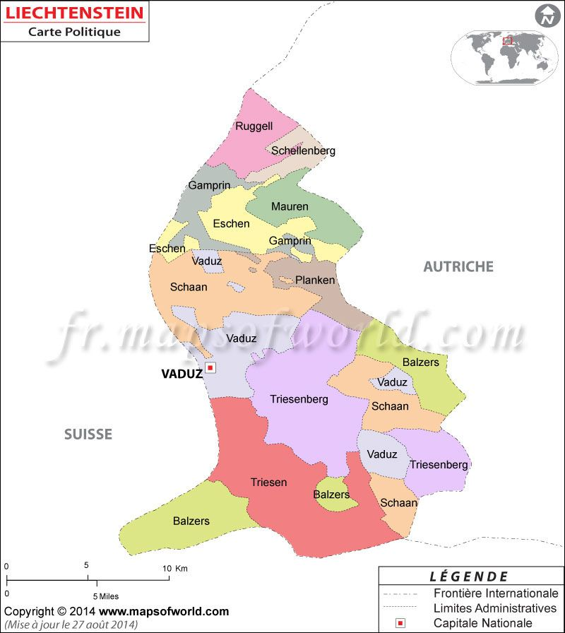 Liechtenstein carte