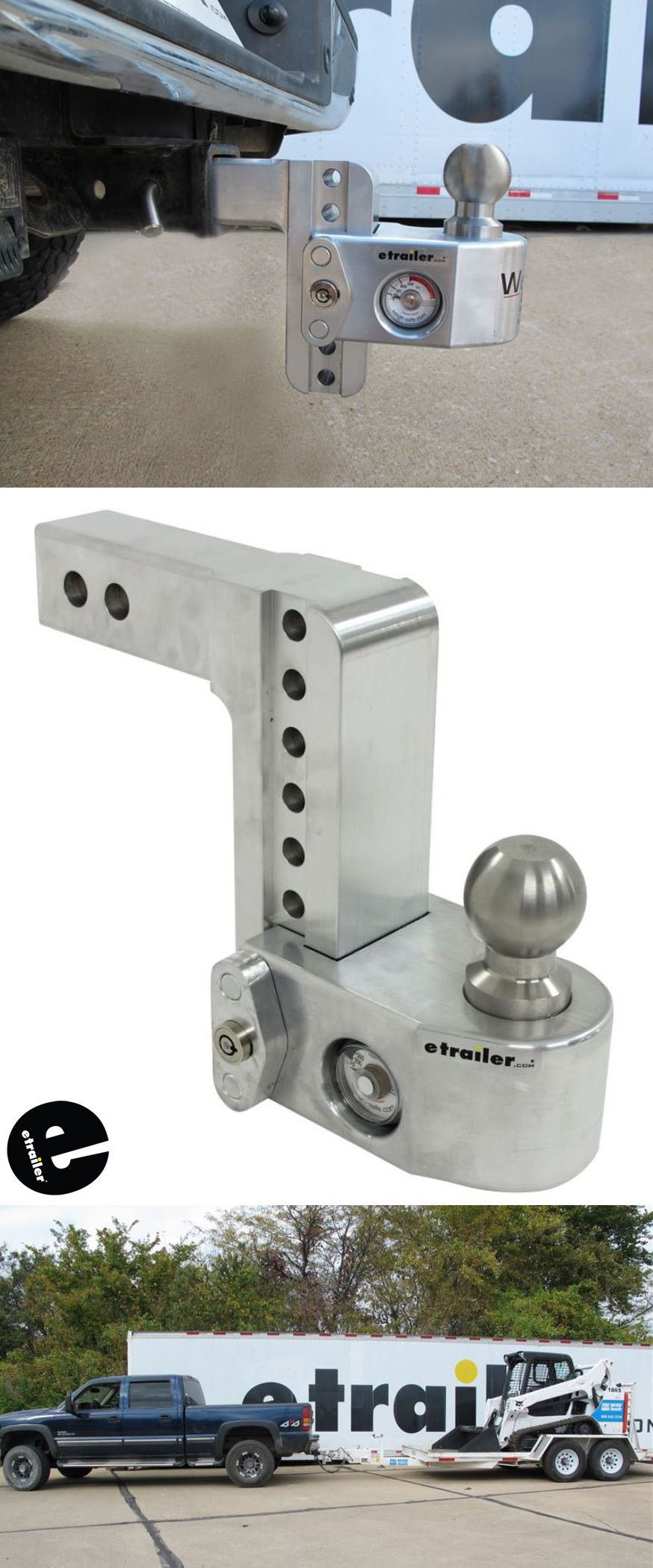 """Weigh Safe 2Ball Mount w/ BuiltIn Scale 2"""" Hitch 6"""