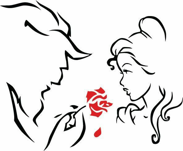 Beauty and the beast silhouette 87277 webnode cricut for Beauty project ideas