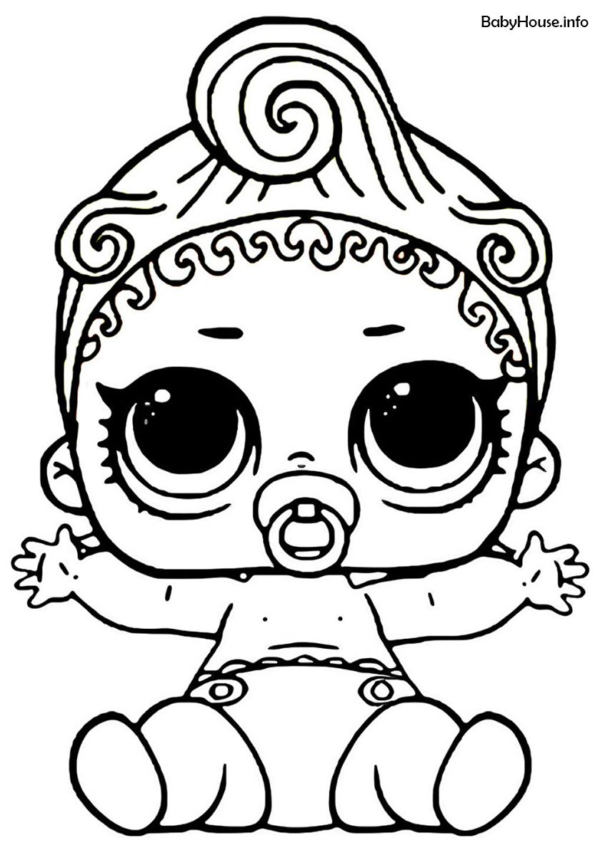 Lil Can Do Baby High Quality Free Coloring From The Category L O L Lil Sisters More Printable Pic Unicorn Coloring Pages Baby Coloring Pages Coloring Pages