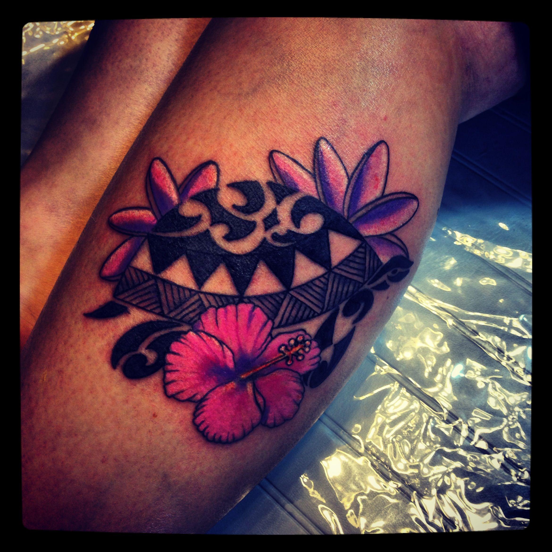 Polynesian Turtle Hawaiian Flowers Tattoo My Tattoo Jackie