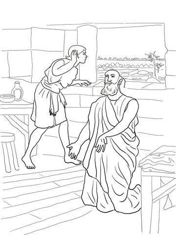 Elisha And His Servant Coloring Page Coloring Pages Free