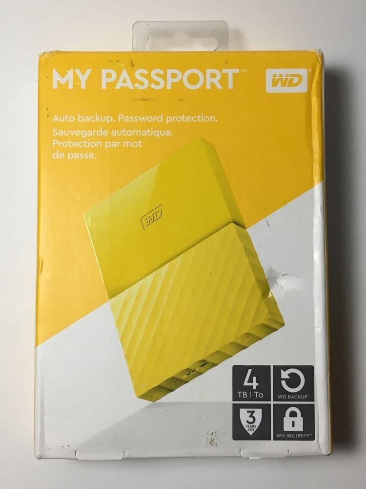 Western Digital Wd My Passport 4tb Wdbyft0040byl Wesn Portable External Hdd Westerndigital Digital Hdd Ebay