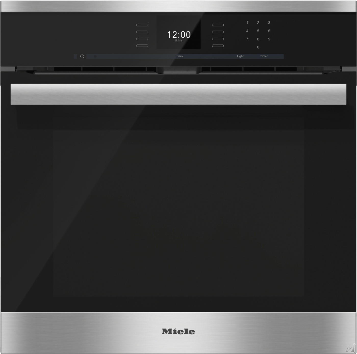 Masterchef Kitchen Appliances Miele H6660bpx 24 Single Electric Wall Oven With Convection