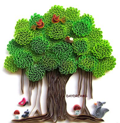 Quilled Banyan Tree - by: Suganthi-DAYDREAMS-http://papercraftss.blogspot.com/